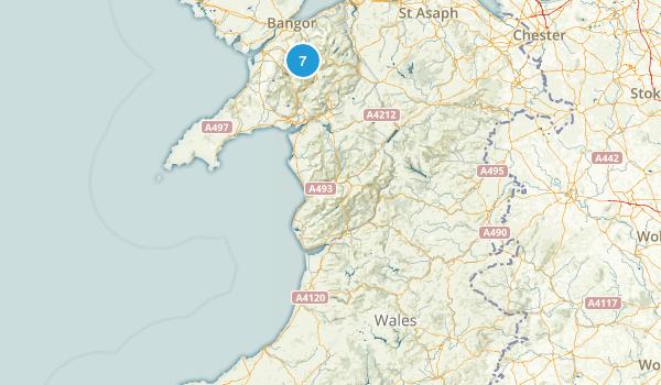 Wales, United Kingdom Rock Climbing Map