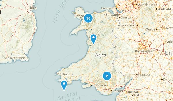 Wales, United Kingdom Walking Map