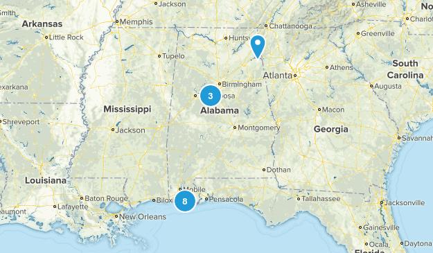 Alabama Beach Map
