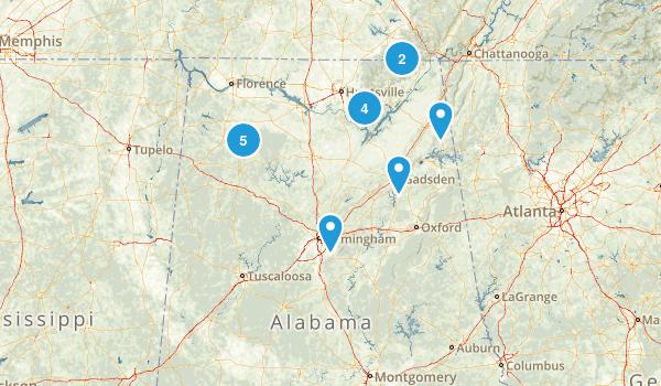 Alabama Cave Map