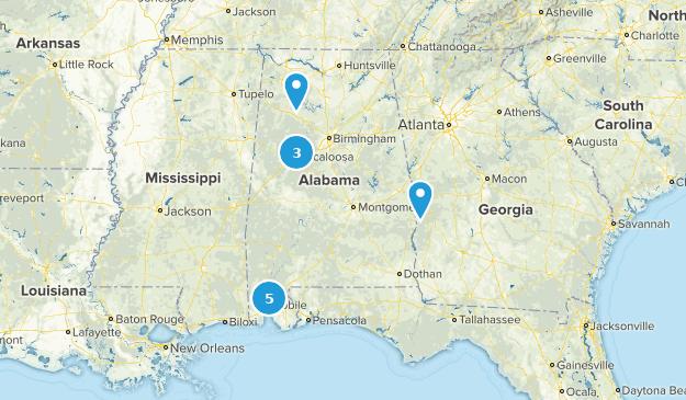 Alabama Historic Site Map
