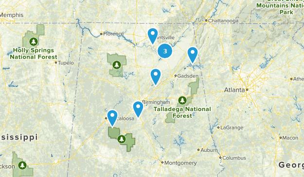 Alabama Rock Climbing Map