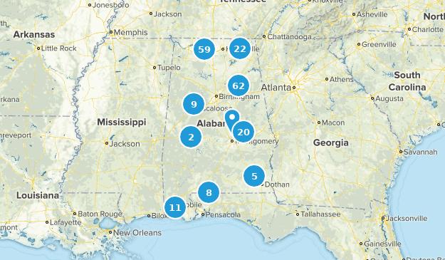 Alabama Trail Running Map