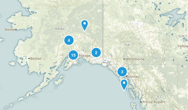 Alaska Backpacking Map
