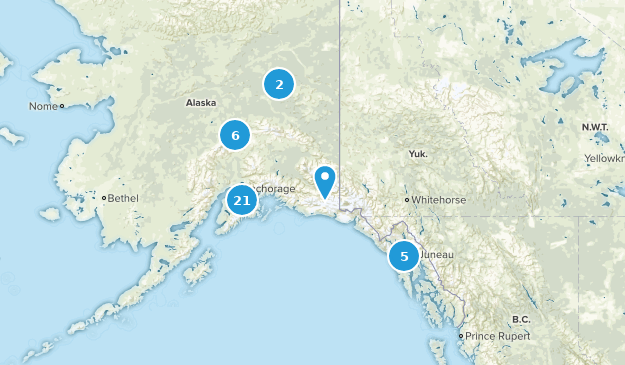 Alaska Backpacking Map