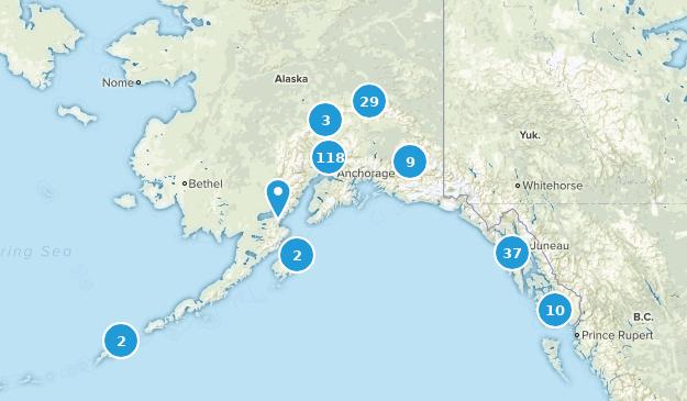 Alaska Birding Map