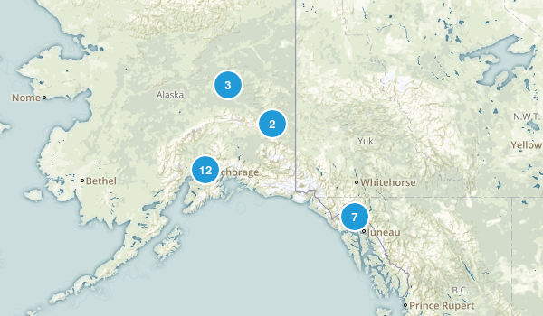 Alaska Cross Country Skiing Map