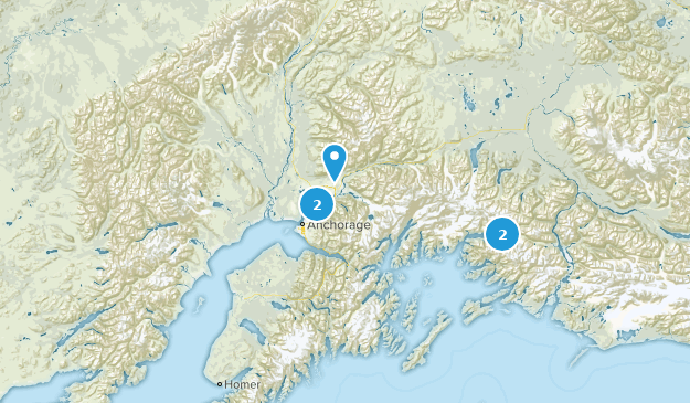 Alaska Historic Site Map