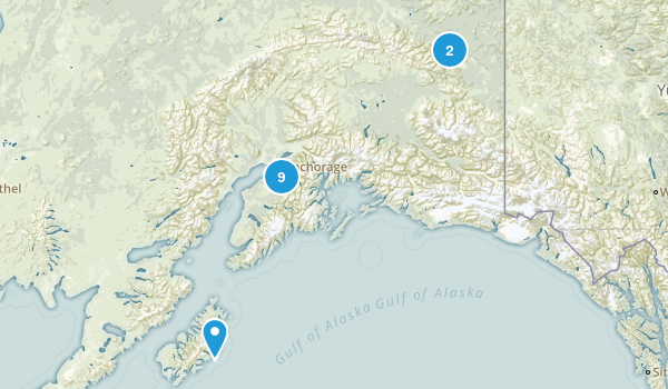Alaska Horseback Riding Map