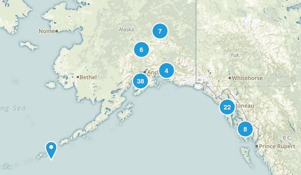 Alaska Lake Map