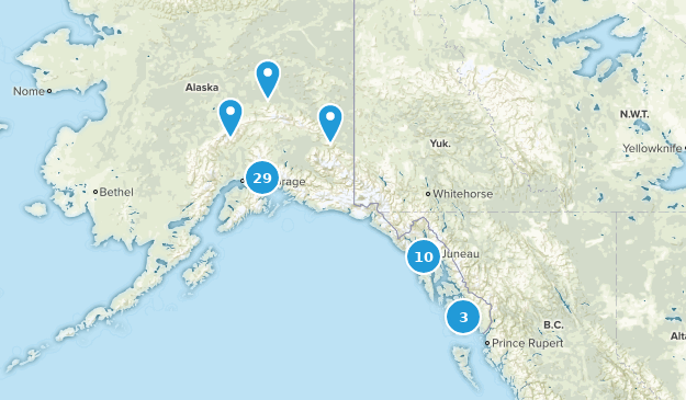 Alaska Mountain Biking Map