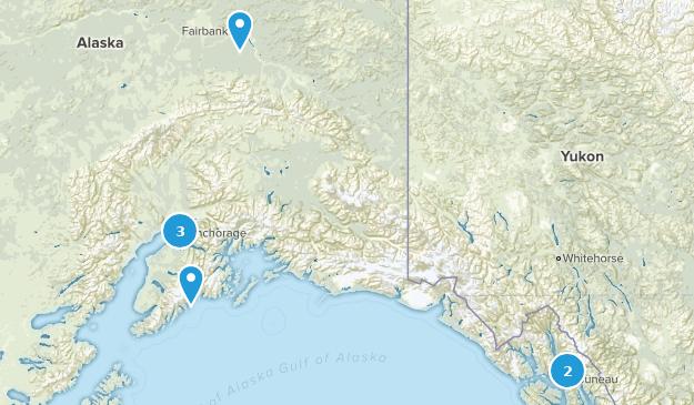 Alaska Partially Paved Map