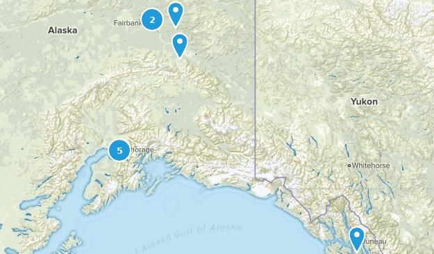 Alaska Road Biking Map