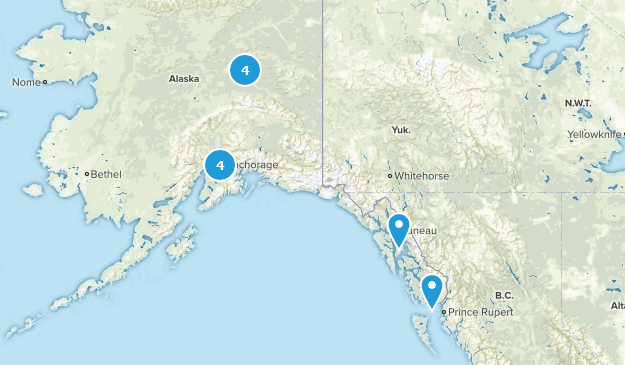 Alaska Skiing Map