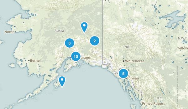 Alaska Snowshoeing Map