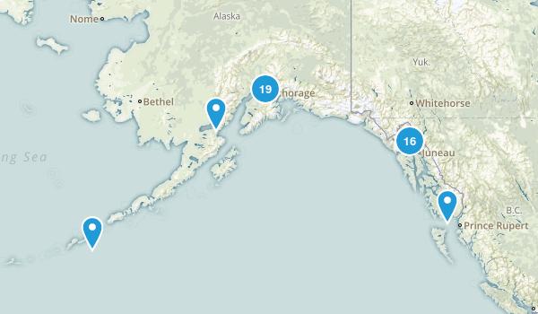 Alaska Waterfall Map
