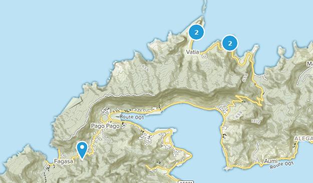 American Samoa Hiking Map
