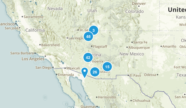 Arizona Camping Map