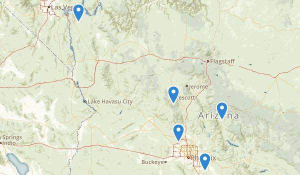 Arizona Canoeing Map