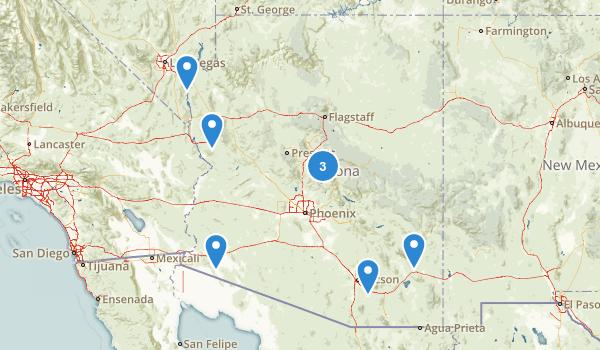 Arizona Hot Springs Map