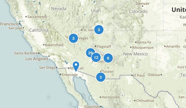Arizona Lake Map