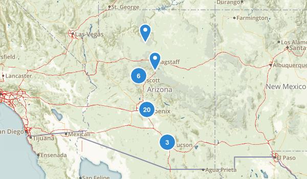 Arizona Road Biking Map