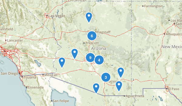 Arizona Rock Climbing Map