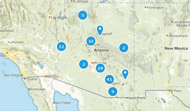 A Map Of Arizona State.Best State Parks In Arizona Alltrails