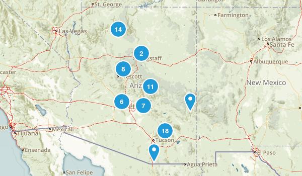 Arizona Waterfall Map