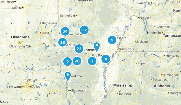 Arkansas Lake Map