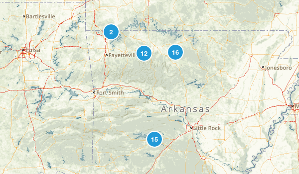 Arkansas National Parks Map
