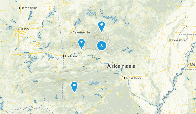 Arkansas Off Road Driving Map