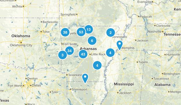 Arkansas Wild Flowers Map
