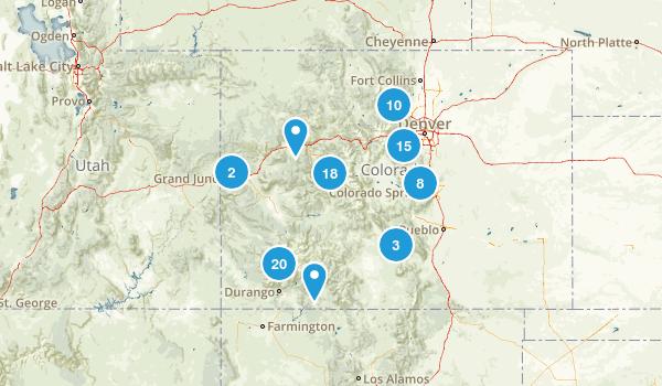Colorado Rock Climbing Map