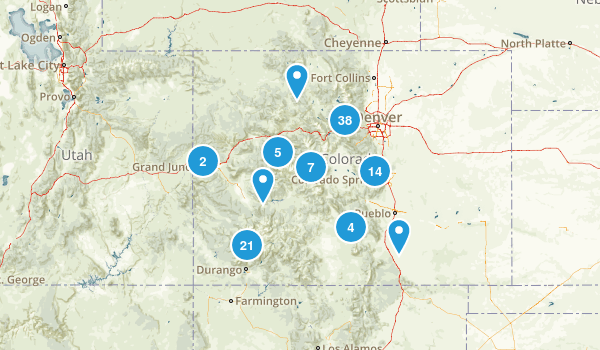 Colorado Rock Climbing Map