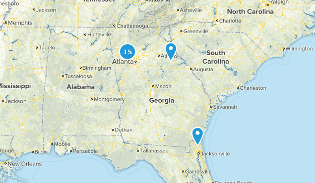 Georgia City Walk Map