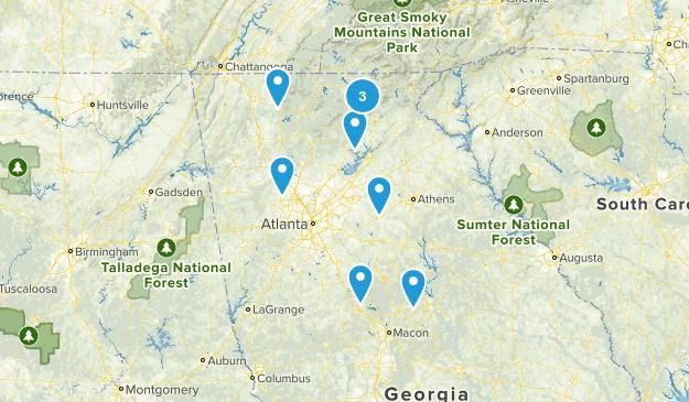 Georgia Scenic Driving Map