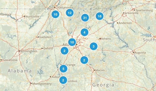 Georgia Waterfall Map