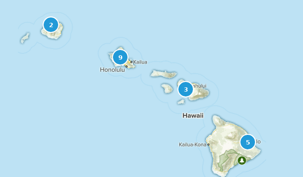 Hawaii Wheelchair Friendly Map