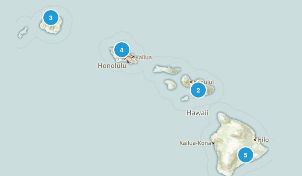 Hawaii Backpacking Map