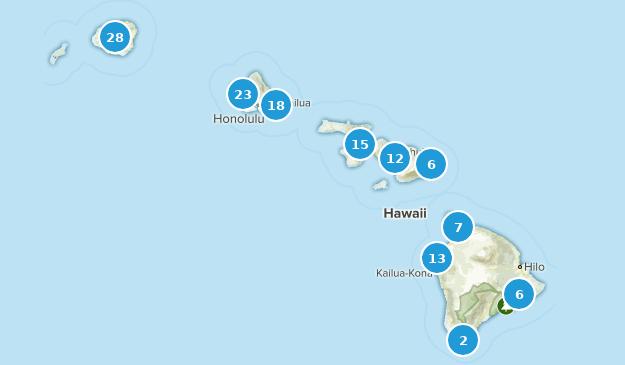 Hawaii Beach Map