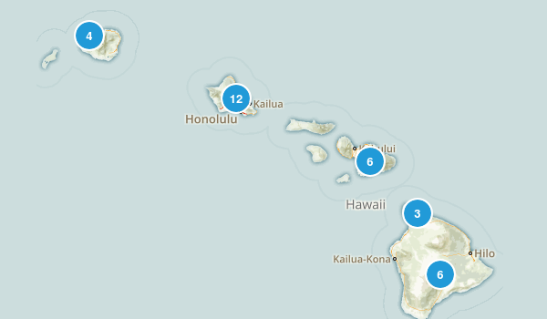 Hawaii Camping Map