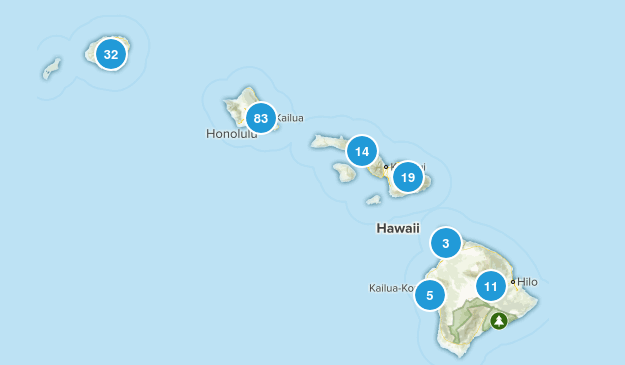 Hawaii Dogs On Leash Map