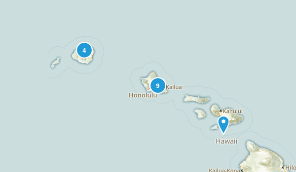 Hawaii Fishing Map