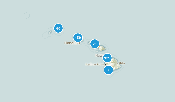 Hawaii Hiking Map