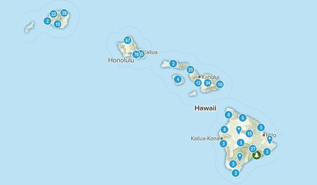 Hawaii Hiking Map