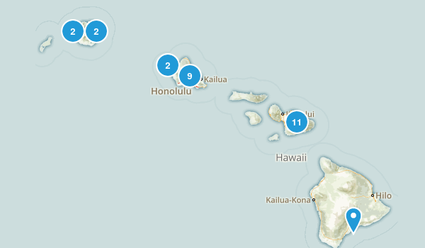 Hawaii Local Parks Map