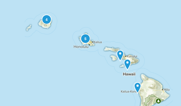 Hawaii Paddle Sports Map