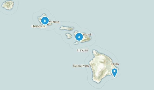 Hawaii Road Biking Map
