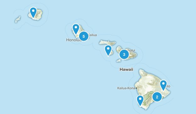 Hawaii Scenic Driving Map